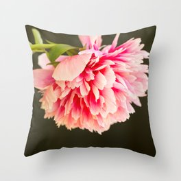 Peony flower Throw Pillow