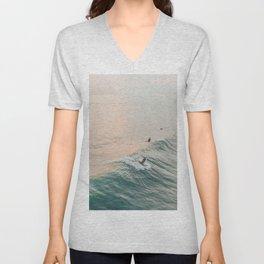 summer waves iv Unisex V-Neck