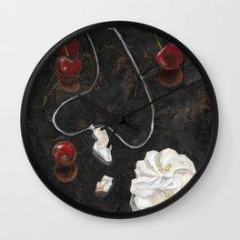 Red Cherries Wall Clock