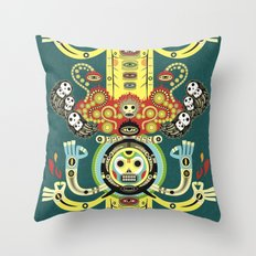 The Gate-Totem Throw Pillow