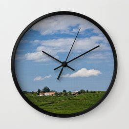 landscape in southern france Wall Clock