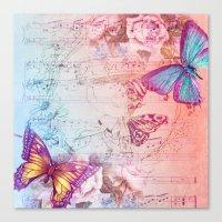 butterflies Canvas Prints featuring butterflies by haroulita
