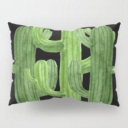 Desert Vacay Three Cacti on Black Pillow Sham