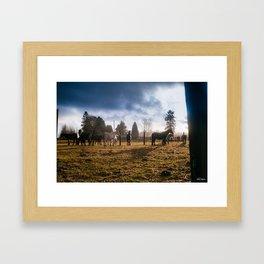 Storm the Barn Framed Art Print