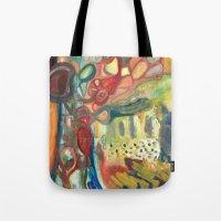 sasquatch Tote Bags featuring Sasquatch by Dena Nord