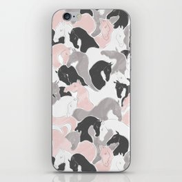 Playing Horses pattern iPhone Skin
