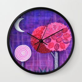 Violet Grove Wall Clock