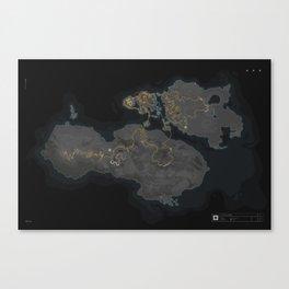 Wattopia Map 2020 Canvas Print