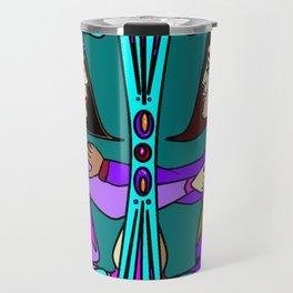 Art Deco Style Medieval Romance, Valentine Travel Mug