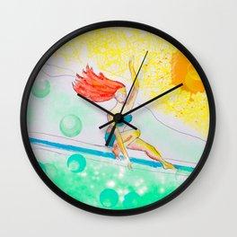 Skye & Sunshine- A Girl and Her Surfboard Wall Clock