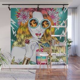 Beach Frenzy Wall Mural
