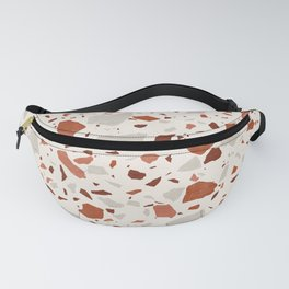Abstract Brown Terrazzo Fanny Pack
