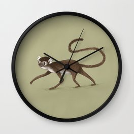 Squirrel Monkey Walking Wall Clock