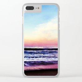 Unicorn Beach Clear iPhone Case