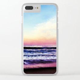 Unicorn Beach Clear iPhone Case