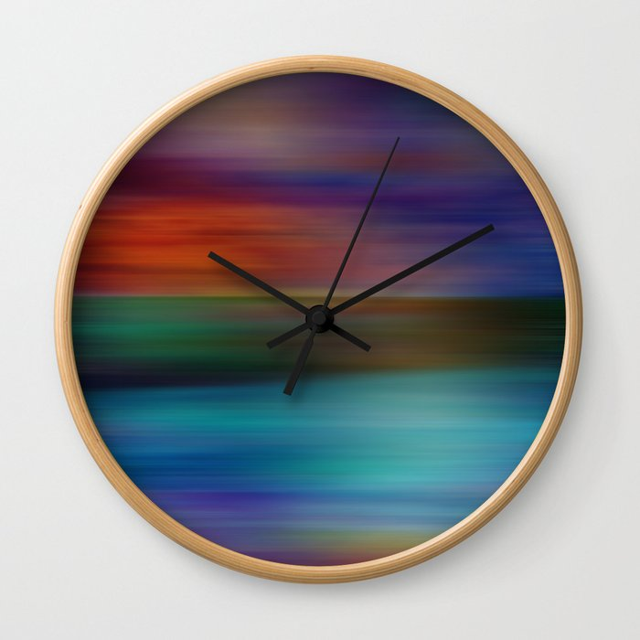 Ocean at Sunset Wall Clock
