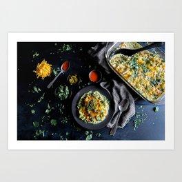 Hatch Chile Chicken Casserole Art Print