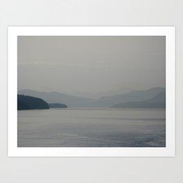 Misty Coast Art Print