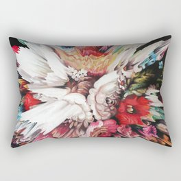 Floral Glitch II Rectangular Pillow