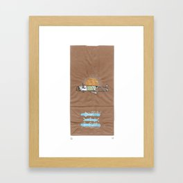 Drink it out of the bottle Framed Art Print
