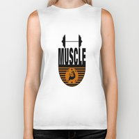 muscle Biker Tanks featuring MUSCLE II by Robleedesigns