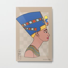 Queen Nefertiti Metal Print