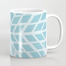 Light blue, diamond, mosaic pattern. Moroccan tile. Coffee Mug
