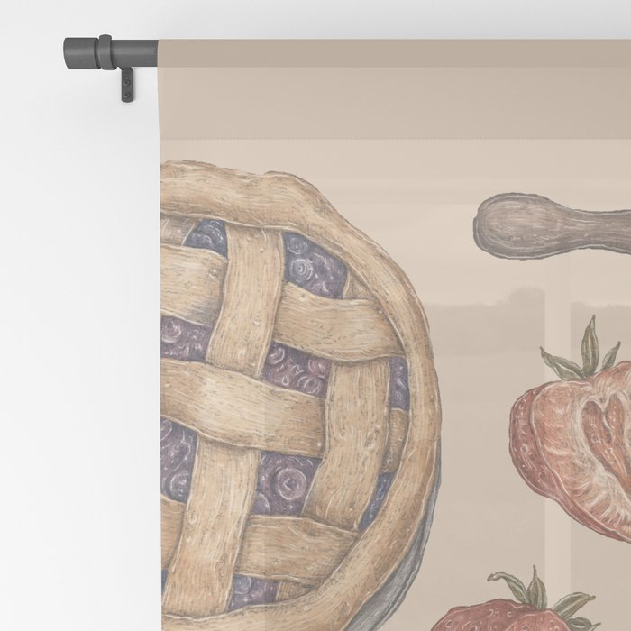 Pie Baking Collection Sheer Curtain