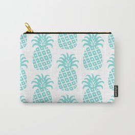 Retro Mid Century Modern Pineapple Pattern 731 Turquoise Carry-All Pouch
