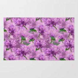 Violet Oriental Style Floral Spray Rug