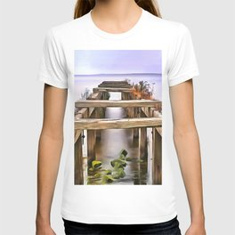 Derrytrasna Jetty, Ireland. (Painting) T-shirt