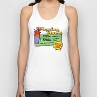 simpsons Tank Tops featuring The Simpsons: Flaming Moe by dutyfreak