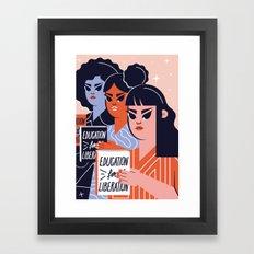 Education for Liberation Framed Art Print