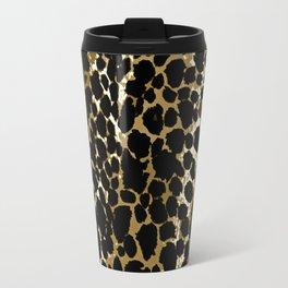 Animal Print Pattern Black and Brown Travel Mug