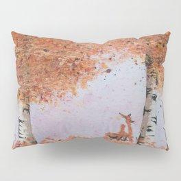 Autumn Birch Fox Pillow Sham