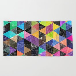 Abstract Geometric Background Beach Towel