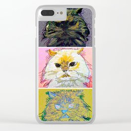 Cat of Many Moods Clear iPhone Case