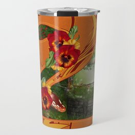 Tropical Swan Travel Mug