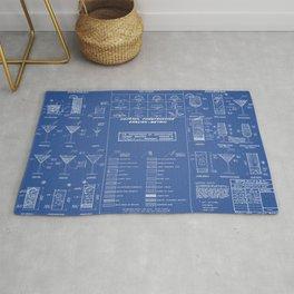 COCKTAIL print blue Rug