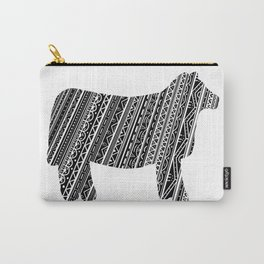 Mandala Heifer Cow Silhouette Carry-All Pouch
