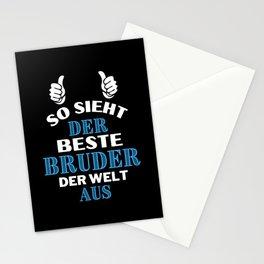 So sieht der beste Bruder der Welt aus Stationery Cards