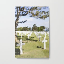 The Crosses at Omaha Beach, Normandy Metal Print