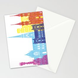 Linz skyline pop Stationery Cards