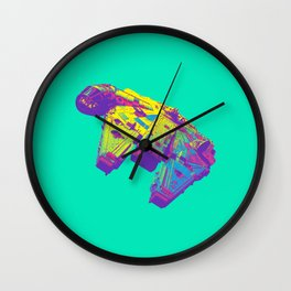 Pop Millennium Falcon On Mint Wall Clock