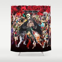 video games Shower Curtains featuring tekken,games,video,jin,kazama,devil,character,best,art, by giftstore2u