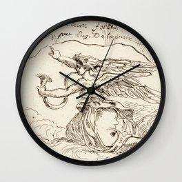 "Eugène Delacroix ""Angel Kneeling on Clouds"" Wall Clock"