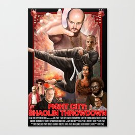Fight City: Shaolin Throwdown (poster) Canvas Print