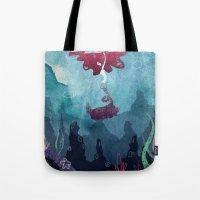 mermaid Tote Bags featuring Mermaid by Serena Rocca