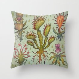 Carnivorous plants Throw Pillow
