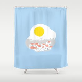 Breakfast Day  Shower Curtain